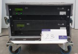 2 d+b audiotechnik D12 Dual Channel Amplifiers in flight case (tested).