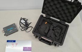 A AJA HDP3 3G/HD/SD SDI to DVI-D and Audio Converter with psu and case (provides 2-channel analog