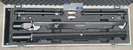 A K-Array KR-102 Portable Sound System comprising: 2-KK102 Black Satellite Array Speakers with