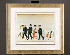"Limited Edition by L.S. Lowry. ""On the Promenade"". 1 of only 85 Published Worldwide"