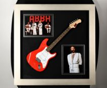 Framed Guitar with Abba's Benny Andersson Original Signature