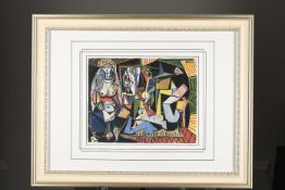 "Rare Limited Edition Pablo Picasso on Silk. ""Les Femmes d'Alger"". 1 of only 85 ever Published"