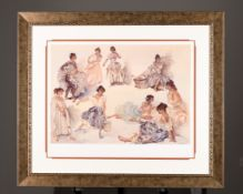 "Limited Edition Gouttelette by Sir William Russell Flint. ""Variations on a Theme"". Supplied wit..."