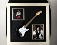 "Framed Guitar with Original Signature of Mick Jones from ""The Clash"""