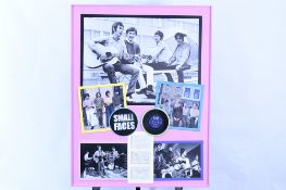 Framed Art Memorabilia Presentation of the Small Faces with Original Band Signatures.