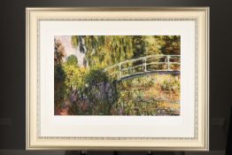 "Limited Edition by Claude Monet. ""Le Pont Japonaise"". 1 of only 50 Published."