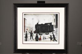 "Limited Edition ""Level Crossing, (1946)"" by L.S. Lowry"