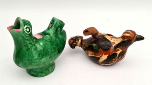 Antique 2 x Pottery Bird Whistles