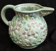 Vintage Large Green Beswick Jug Shape No. 653
