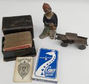 Vintage Parcel of Items Includes Tremar Pottery Playing Cards etc