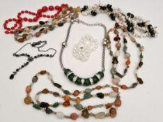 Vintage Parcel Costume Jewellery Includes Agate