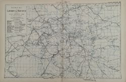 Antique Railway Map of London & Suburbs 1899 G. W Bacon & Co.
