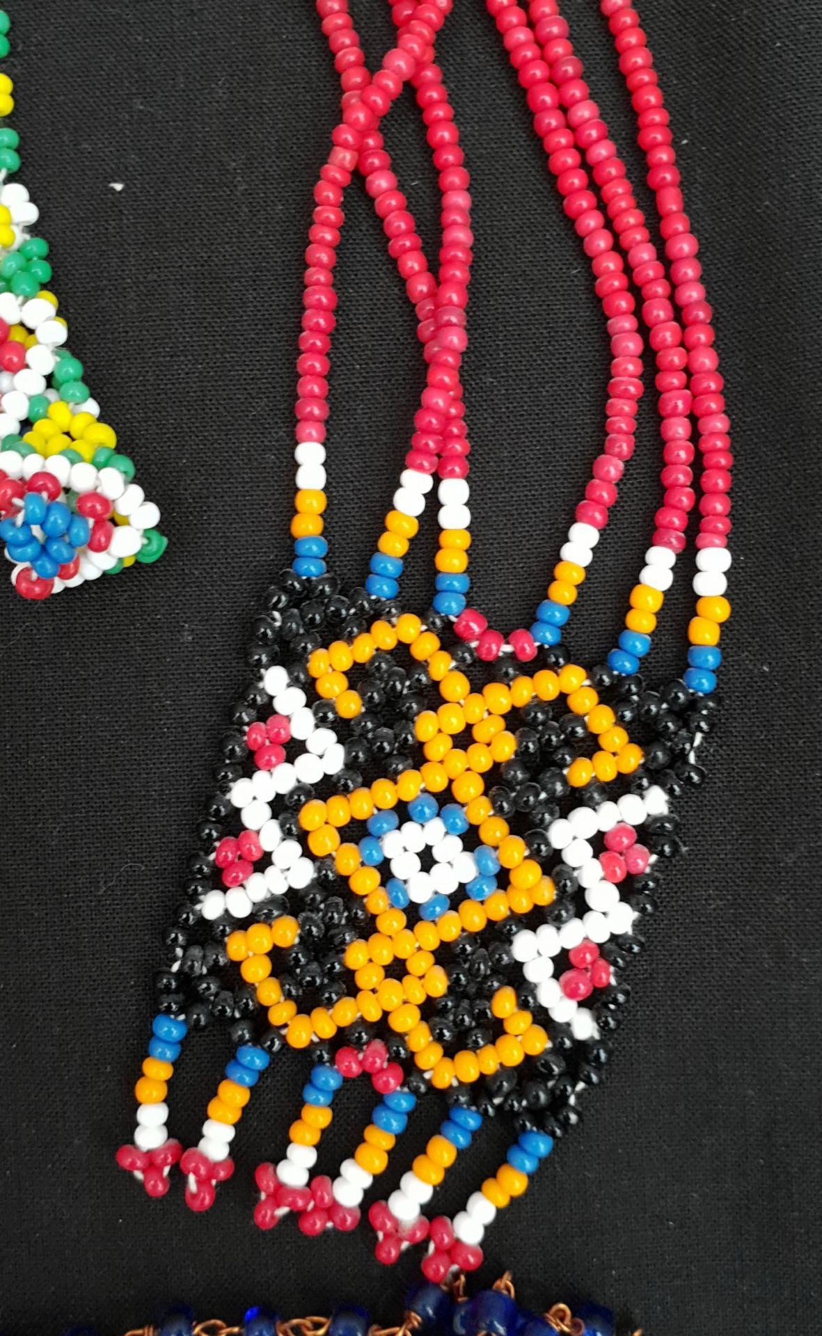 Vintage Costume Jewellery Beadwork Necklaces etc - Image 2 of 2