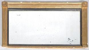 C19th gilt overmantel mirror
