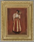 C19th oil painting 'The Spanish Dancer'