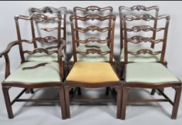 Five george III dining chairs for restoration
