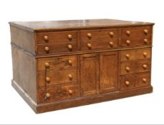 Early C19th architects plan chest