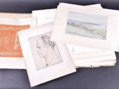 Emil Orlik (1870 1932) Portfolio Of Lithograph And An Etching