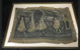 C19th Indian painting on cloth