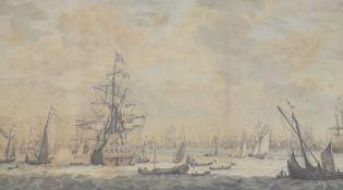 Engraving after Willemstad Van dee Velde( late C17th )