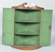 C19th bow fronted cupboard