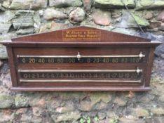 Billiard score board by W Jelks & Sons of London