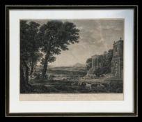 William Woollett (1735-1785) - The Temple of Apollo after Claude de Lorrain