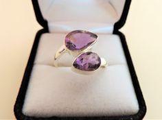 Sterling Silver 5.25 carat Amethyst Ring