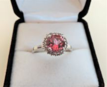 2.50ct Pink Topaz Ring in 925 Sterling Silver