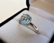 Sterling Silver 2.50ct Blue Topaz Ring