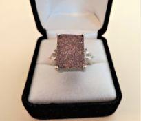 Sterling Silver Raw Quartz Gemstone Ring