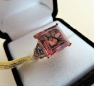 Sterling Silver Gilt Ring Size N