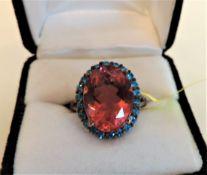 Pink Tourmaline 925 Sterling Silver Ring