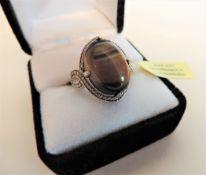 Tigers Eye Sterling Silver Ring