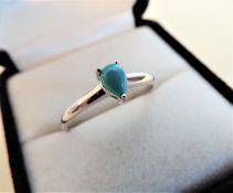Turquoise Gemstone Ring in Sterling Silver