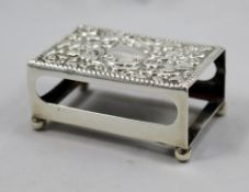 Late Victorian Sterling Silver Matchbox Holder Chester 1900