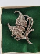 Silver and Marcasite Brooch