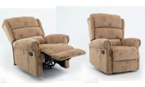 Cambridge manual reclining arm chair in soho patchwork fabric