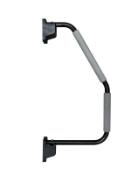 6 x black xl hand rails (zzielhrb)