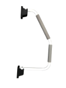 2 x white xl hand rails (zzielhrw)