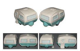2 x caravan new edition salt and pepper set (ppxy660) (zzppcnsp)
