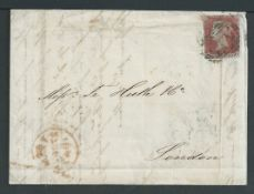 G.B. - Northumberland/Denmark/Forwarding Agents 1847 Entire Letter from Elsinore, Denmark, to Londo