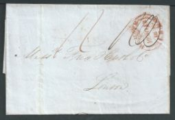 G.B. - London 1839 Entire Letter sent from Liverpool to London with a slightly doubled but readily