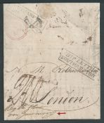 """G.B. - Ship Letters - Southampton 1823 Entire letter from Rio de Janeiro to Rothschild, London """"By"""