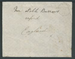 Tristan Da Cunha 1918 Stampless cover (slight staining on reverse) to England delivered without cha