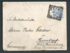 Cape of Good Hope - Wreck Mail 1900 (April 4) Cover franked 2 1/2d from Paarl to Germany, backstamp