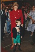 ROYALTY 2 FINE PRESS PHOTOS PRINCESS DIANA & PRINCE WILLIAM AT ROYAL TOURNAMENT 1988 Two fine orig