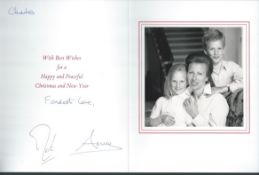 ROYALTY SIGNED CHRISTMAS CARD FROM PRINCESS ANNE DAUGHTER OF QUEEN ELIZABETH II Fine Christmas ca