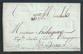 France - Maritime / Haiti 1784 Entire Letter from Port au Prince to Bordeaux charged 16 sols with a