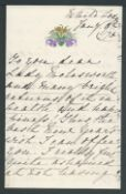 ROYALTY 1875 NEW YEARS LETTER FROM PRINCESS MARY ADELAIDE MOTHER OF QUEEN MARY Fine New Years lett